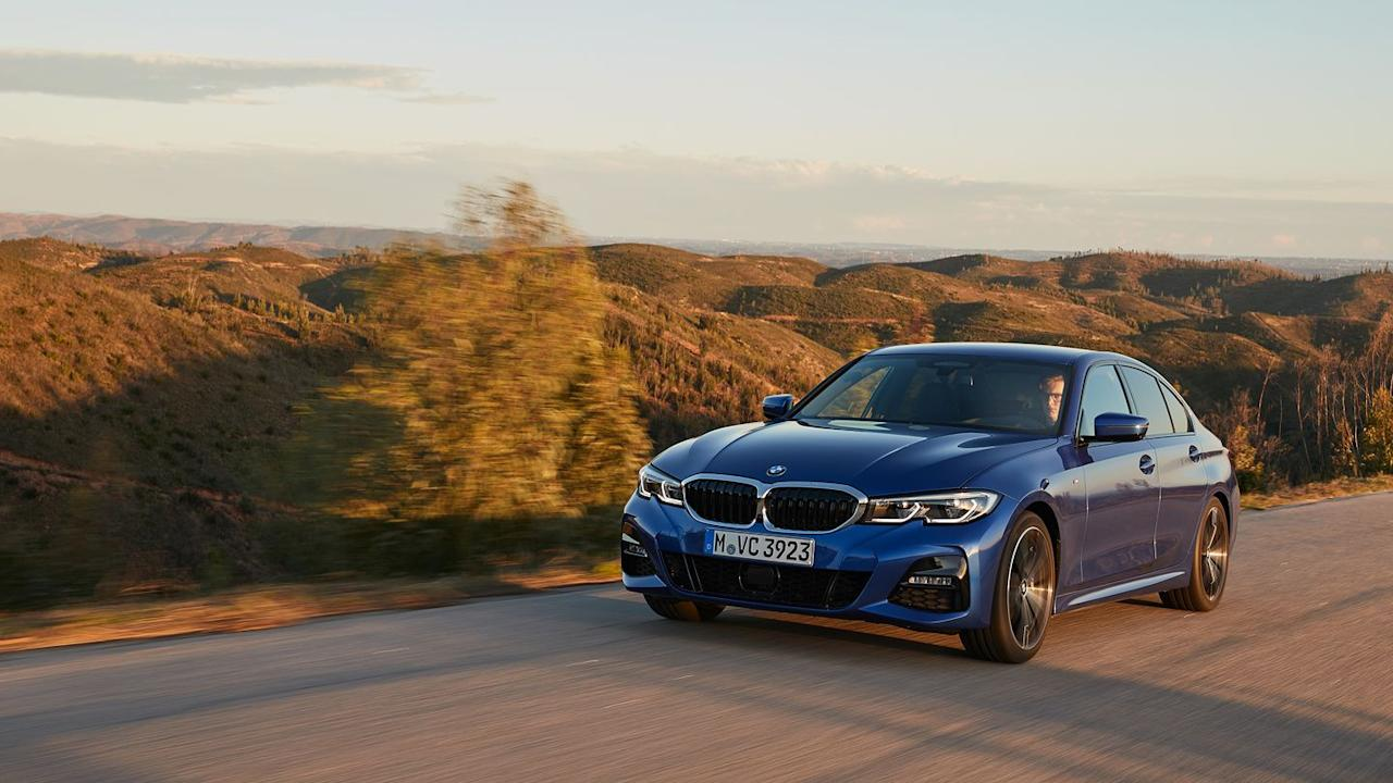 """<p>The 330i turns in with authority, even on Portugal's low grip road surfaces, and the rear lets go first under anything but the lightest throttle input. Stop screaming, mom, this is called oversteer and it's the reason you buy a rear-drive car.</p><p>The steering rack quickens with lock so progressively that the ratio change is imperceptible, and taking just 2.3 turns, lock-to-lock maneuvering requires far less hand-flailing than in most BMWs. The M-sport brakes have fabulous initial bite without being grabby.</p><p><em>Read the rest of our 330i review <a href=""""https://www.roadandtrack.com/new-cars/first-drives/a25475896/2019-bmw-330i-first-drive-review/"""" target=""""_blank"""">here</a>. </em></p>"""