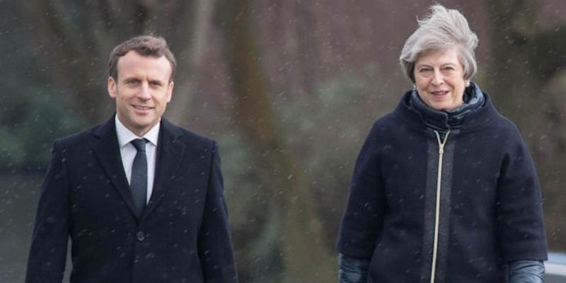 theresa may macron summit