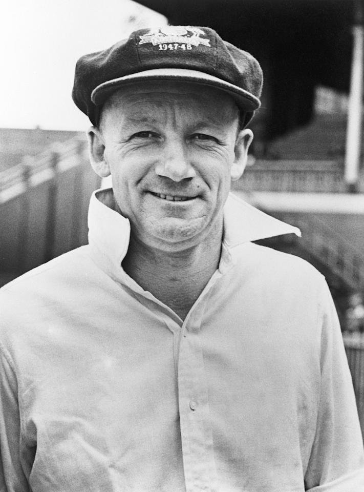 Australian cricketer Don Bradman (1908 - 2001), February 1948. (Photo by Fox Photos/Hulton Archive/Getty Images)