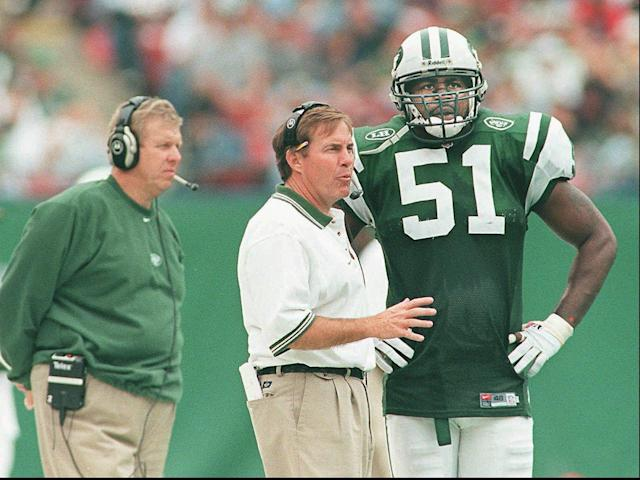Bill Belichick was pegged to be the next Jets head coach after Bill Parcells, but promptly resigned the position after one day. (AP)