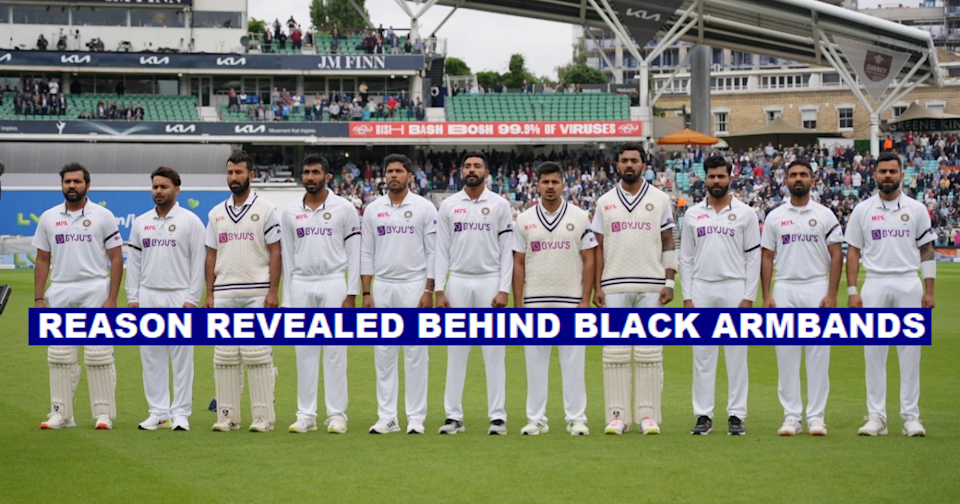 Team India Sports Black Armbands At Oval