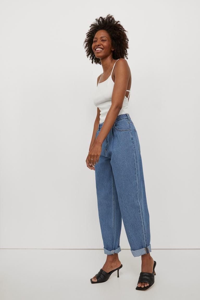 <p>If you're looking for something oversized and comfortable, these <span>H&amp;M Loose High Waist Jeans</span> ($18, originally $20) are for you. We like the juxtaposition of these loose jeans paired with a tight tank.</p>
