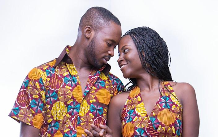 """<span class=""""caption"""">It's likeness that makes the heart grow fonder.</span> <span class=""""attribution""""><a class=""""link rapid-noclick-resp"""" href=""""https://commons.wikimedia.org/wiki/File:African_print_couple_love.jpg"""" rel=""""nofollow noopener"""" target=""""_blank"""" data-ylk=""""slk:Zediajaab"""">Zediajaab</a>, <a class=""""link rapid-noclick-resp"""" href=""""http://creativecommons.org/licenses/by-sa/4.0/"""" rel=""""nofollow noopener"""" target=""""_blank"""" data-ylk=""""slk:CC BY-SA"""">CC BY-SA</a></span>"""