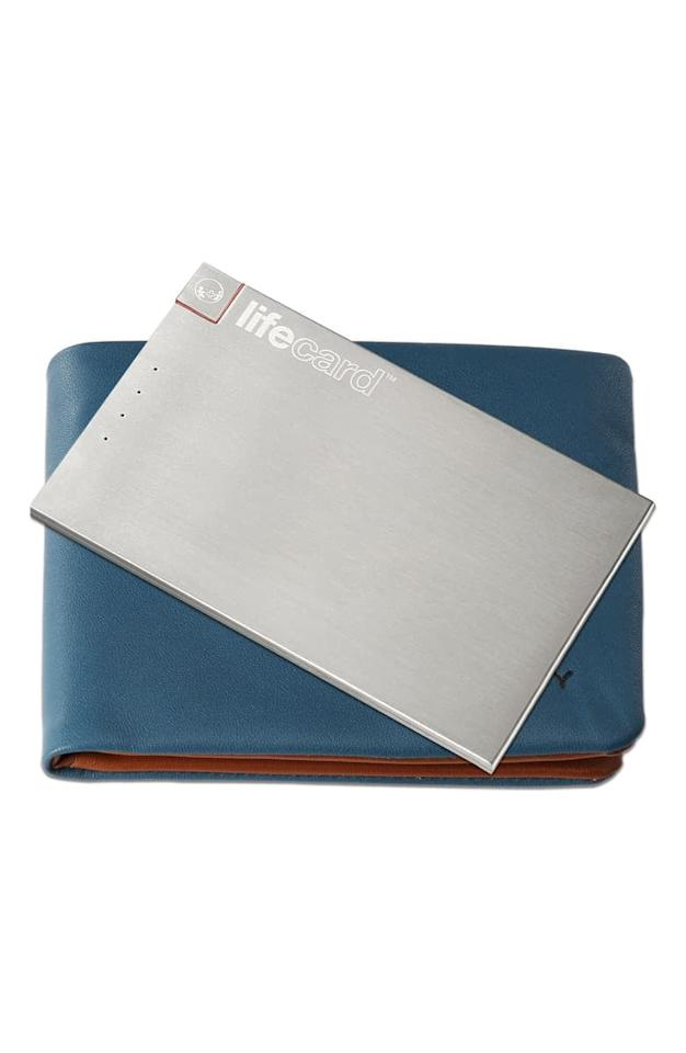 "<p>Yes, this slim <a href=""https://www.popsugar.com/buy/Plusus-Lifecard-Lightning-External-Battery-518687?p_name=Plusus%20Lifecard%20Lightning%20External%20Battery&retailer=shop.nordstrom.com&pid=518687&price=50&evar1=savvy%3Aus&evar9=45416002&evar98=https%3A%2F%2Fwww.popsugar.com%2Fsmart-living%2Fphoto-gallery%2F45416002%2Fimage%2F46908077%2FPlusus-Lifecard-Lightning-External-Battery&list1=shopping%2Cgifts%2Choliday%2Cstocking%20stuffers%2Cgift%20guide%2Cgifts%20for%20women%2Cgifts%20for%20men%2Cgifts%20under%20%24100&prop13=api&pdata=1"" rel=""nofollow"" data-shoppable-link=""1"" target=""_blank"" class=""ga-track"" data-ga-category=""Related"" data-ga-label=""https://shop.nordstrom.com/s/plusus-lifecard-lightning-external-battery/5330071/full?origin=category-personalizedsort&amp;breadcrumb=Home%2FHoliday%20Gifts%2FStocking%20Stuffers&amp;color=silver"" data-ga-action=""In-Line Links"">Plusus Lifecard Lightning External Battery</a> ($50) can fit in their wallet.</p>"