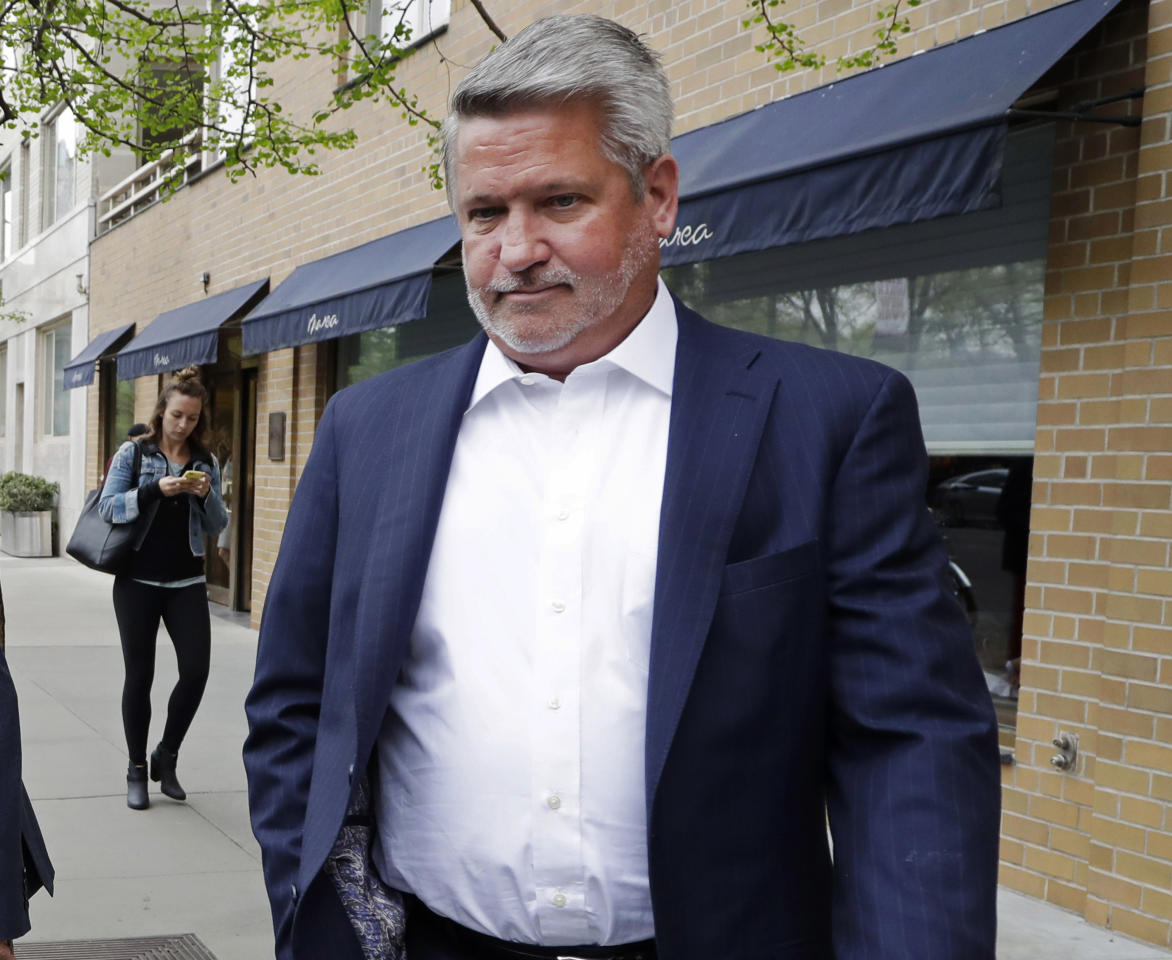 "FILE - In this April 24, 2017, file photo, then-Fox News co-president Bill Shine, leaves a New York restaurant. For years Shine carried out Roger Ailes' orders, earning himself the nicknamed ""the Butler"" at Fox. Now, Shine is serving the same role under President Donald Trump. Shine has yet to select a permanent office or unpack his stuff. But he has been putting his mark on the West Wing (AP Photo/Mark Lennihan, File)"