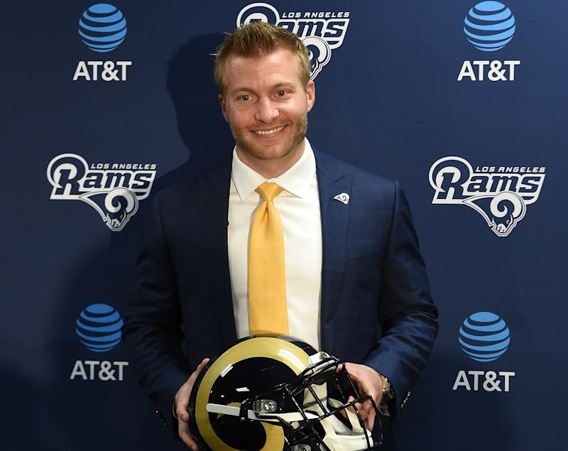The Los Angeles Rams announce the hiring of new head coach Sean McVay on January 13, 2017.