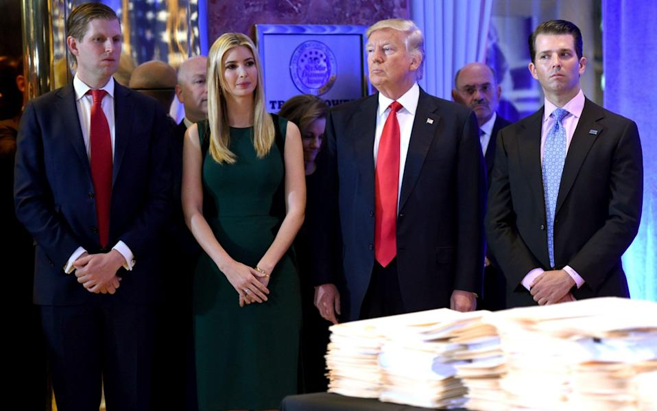Trump reportedly discussed preemptively pardoning his three eldest children and his son-in-law - AFP
