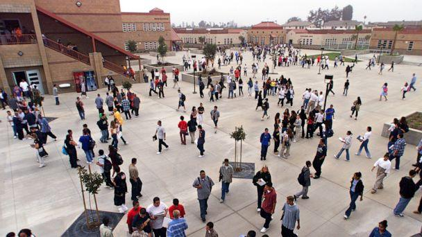 PHOTO: View of the yard at the newly built Pacifica High School. (Ricardo Dearatanha/Los Angeles Times via Getty Images, FILE)