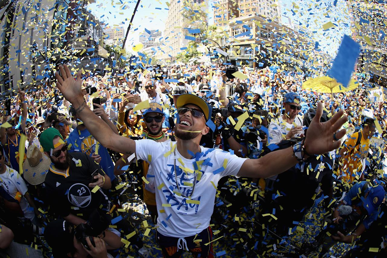 After the Warriors championship win in 2017, Steph Curry was vocal about not wanting to attend a White House ceremony, even before getting a formal invitation. President Trump responded by tweet and disinvited Curry, although the team, as a whole, had yet to decide whether they would attend given the invitation.