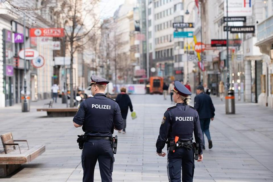 Austrian police on patrol  (Getty Images)