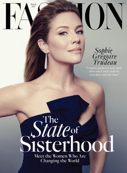 Sophie Grégoire Trudeau on the cover of <i>Fashion</i>'s feminist-themed issue.