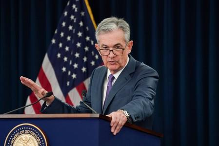 Federal Reserve Chair Jerome Powell holds a news conference in Washington
