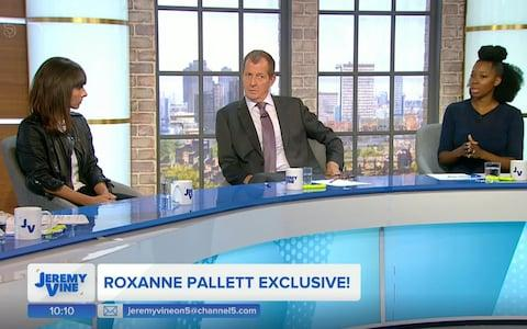 Roxanne Pallett, with Alistair Campbell and Jamelia on Jeremy Vine  - Credit: PA