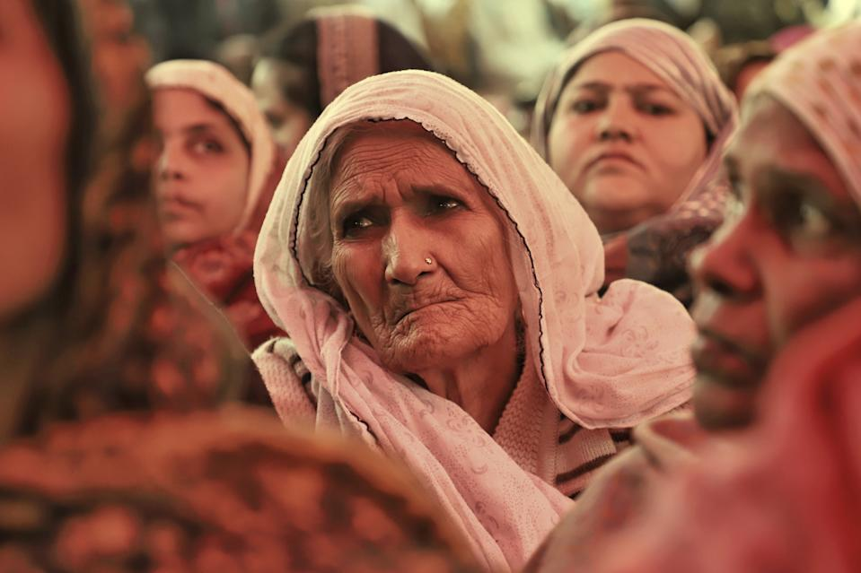 Bilkis, 80, the Shaheen Bagh dadi listed among TIMEs most influential people of 2020. Picture taken at Shaheen Bagh, New Delhi during CAA Protests on 02 February 2020  (Photo by Nasir Kachroo/NurPhoto via Getty Images)