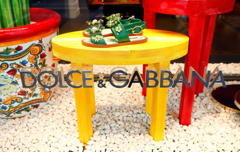 Logo of Italian designers Dolce & Gabbana is seen at a branch office in Zurich