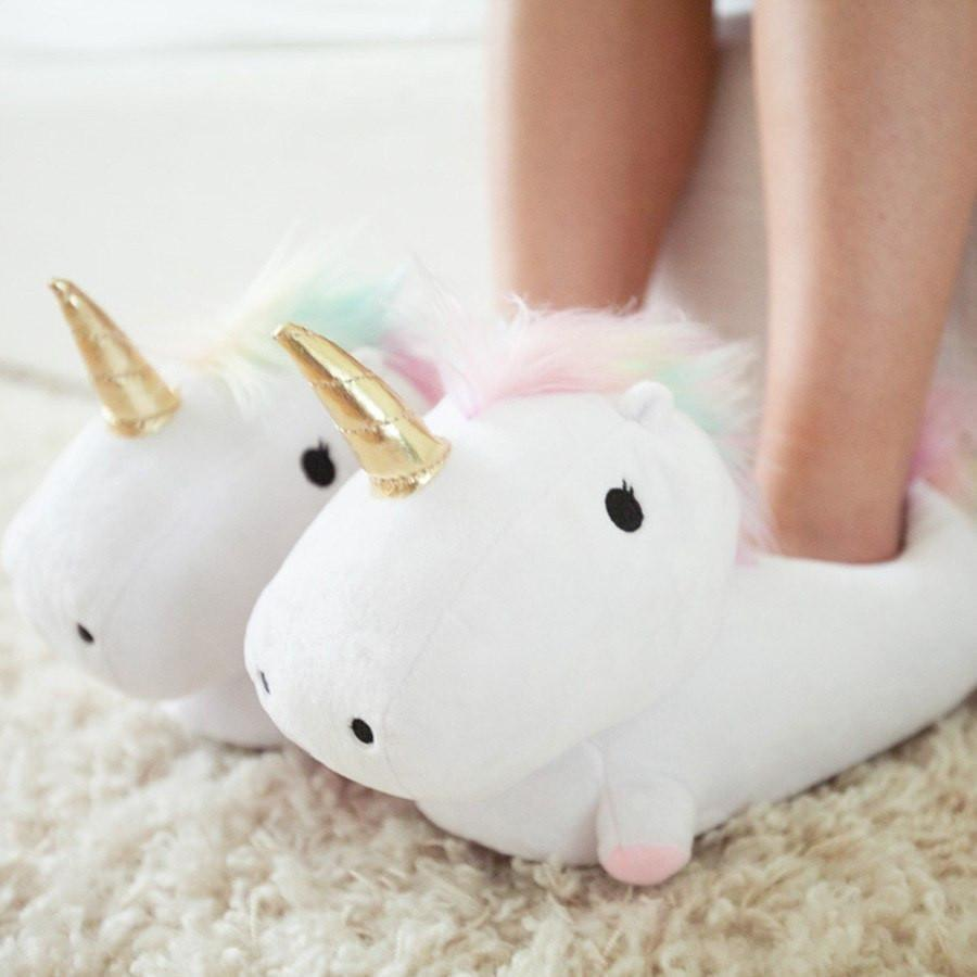 <p>These <span>Smoko Unicorn Light Up Slippers</span> ($43) are too cool.</p>