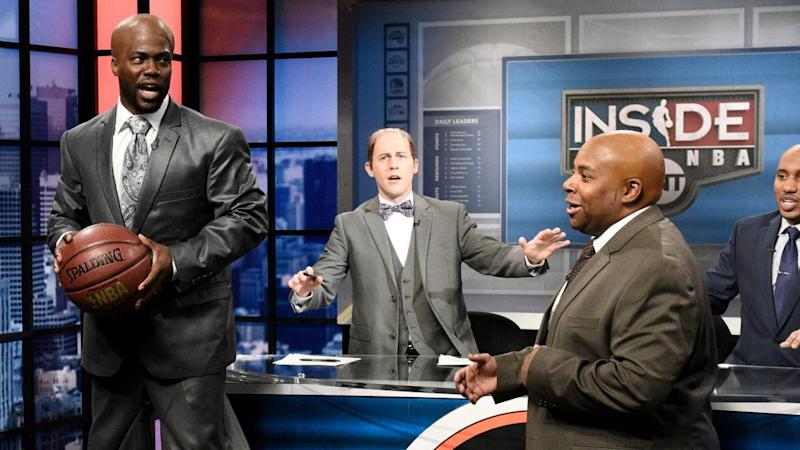 Kevin Hart Rocks Stilts to Play Shaquille O'Neal on 'Saturday Night Live' -- Watch!