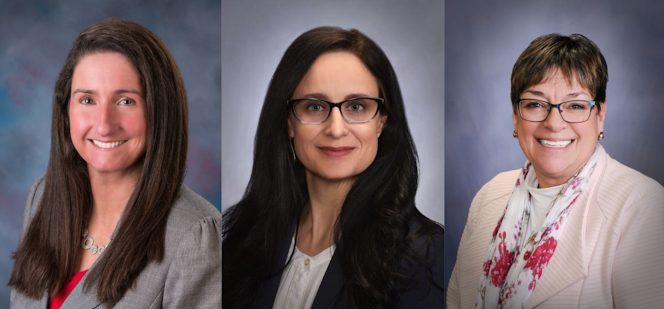 From left, Rep. Ilana Rubel is the House minority leader, Rep. Lauren Necochea is the assistant minority leader and Rep. Sally Toone is the minority caucus chair.