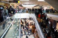 FILE PHOTO: Christmas shopping amid COVID-19 outbreak in London