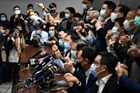 Pro-democracy lawmakers announced last week they would resign in solidarity with four colleagues disqualified by Hong Kong's pro-Beijing authorities