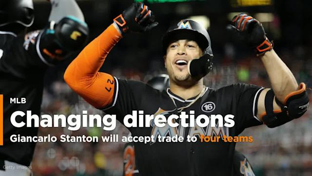 According to a report, Giancarlo Stanton will only accept a trade to four teams, and neither the St. Louis Cardinals, nor the San Francisco Giants made that list.