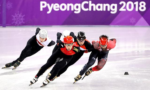 Dajing Wu is dominating the men's short-track 500 meters. (EFE)