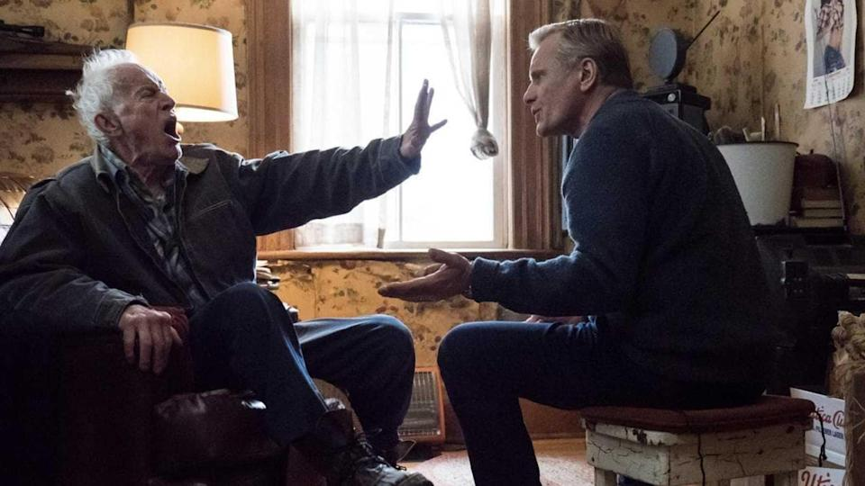 <p>Mortensen plays John Peterson, a middle-aged gay man and the abused and harried son of the homophobic Willis (Lance Henriksen, left)</p> (Modern Films)