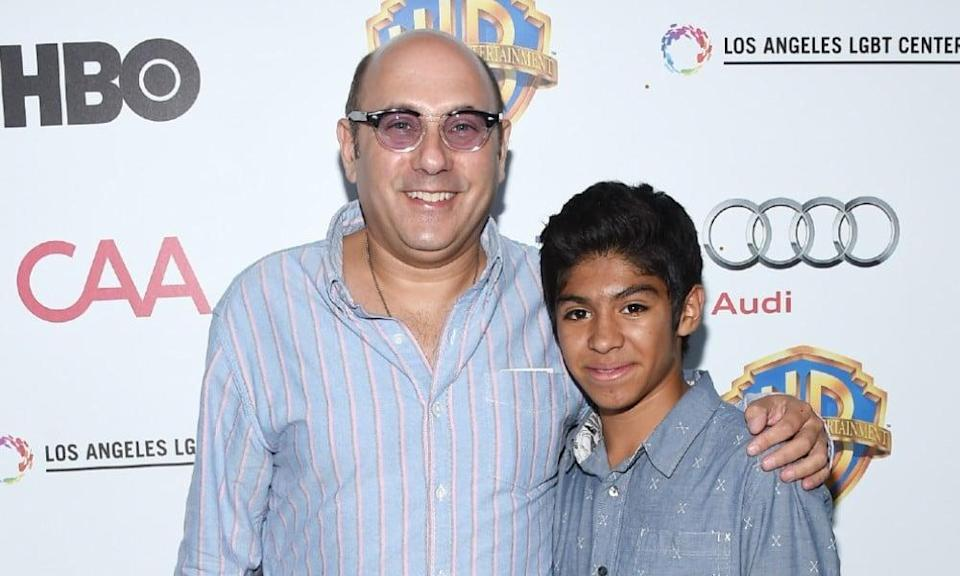 Willie Garson and his son Nathen Garson at a charity event for LGBT+ homeless youth services in 2015 (Amanda Edwards/Getty)