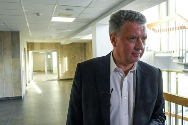 Dmitry Shlyakhtin resigned as president of Russia's Athletics Federation in November, an election for a replacement is scheduled for Friday, but the field was reduced to one candidate on the eve of the vote (AFP Photo/Kirill KUDRYAVTSEV)