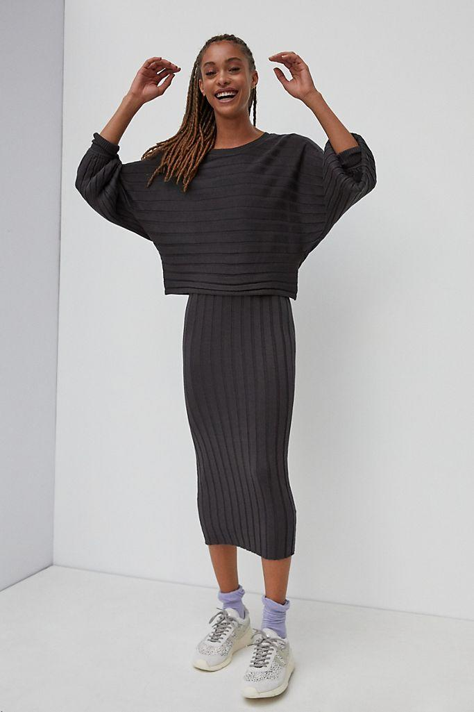 "<br><br><strong>Anthropologie</strong> Clea Ribbed Midi Dress, $, available at <a href=""https://go.skimresources.com/?id=30283X879131&url=https%3A%2F%2Fwww.anthropologie.com%2Fshop%2Fclea-ribbed-midi-dress%3F"" rel=""nofollow noopener"" target=""_blank"" data-ylk=""slk:Anthropologie"" class=""link rapid-noclick-resp"">Anthropologie</a>"
