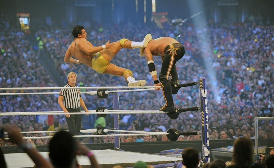 "<p>Wrestling values safety, and that's why <a href=""https://www.sportskeeda.com/slideshow/10-wwe-rules-we-conveniently-forget"" rel=""nofollow noopener"" target=""_blank"" data-ylk=""slk:chokeholds"" class=""link rapid-noclick-resp"">chokeholds</a> are a no go. </p>"
