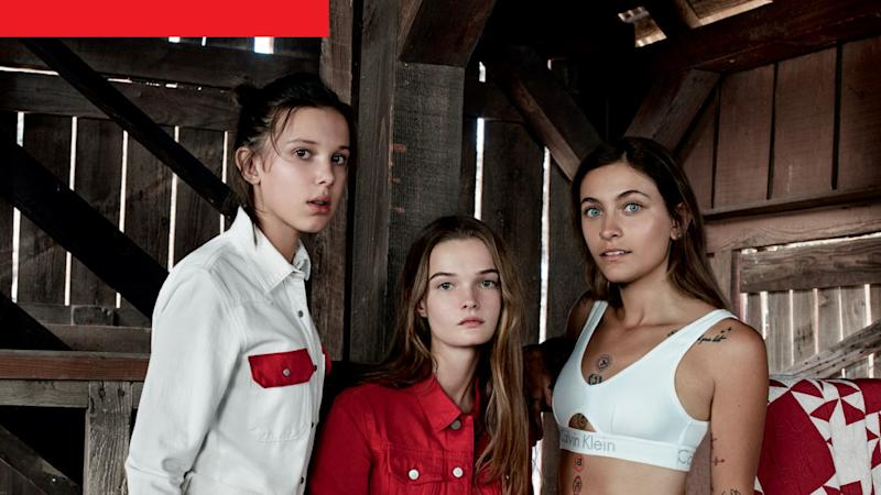 Paris Jackson, Millie Bobby Brown and Lulu Tenney Star in Calvin Klein Jeans Campaign