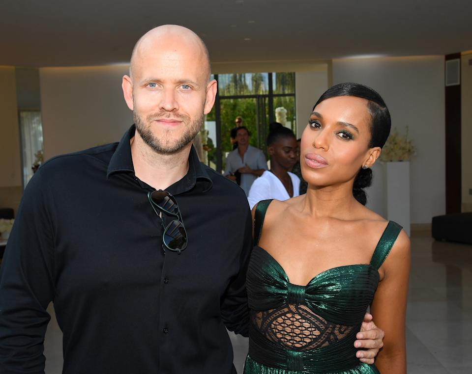 Daniel Ek and Kerry Washington attend an intimate evening of music and culture hosted by Spotify and Hulu during Cannes Lions 2019 at Villa Mirazur on 17 June 2019 in Cannes, France. Photo: Dave J Hogan/Getty Images for Spotify