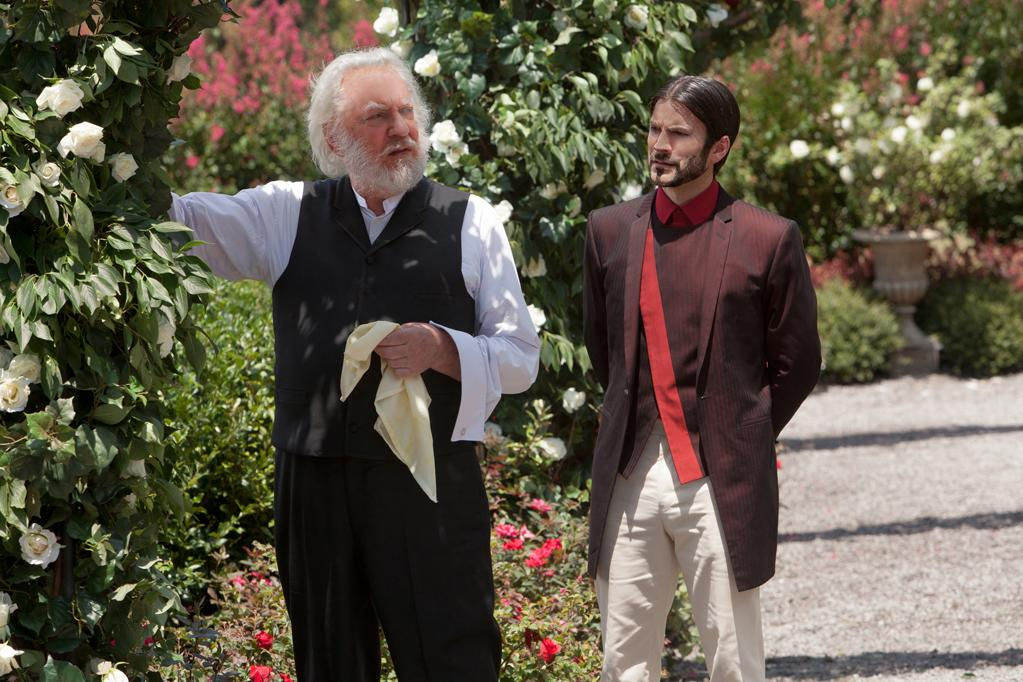 "Donald Sutherland and Wes Bentley in Lionsgate's ""The Hunger Games"" - 2012"