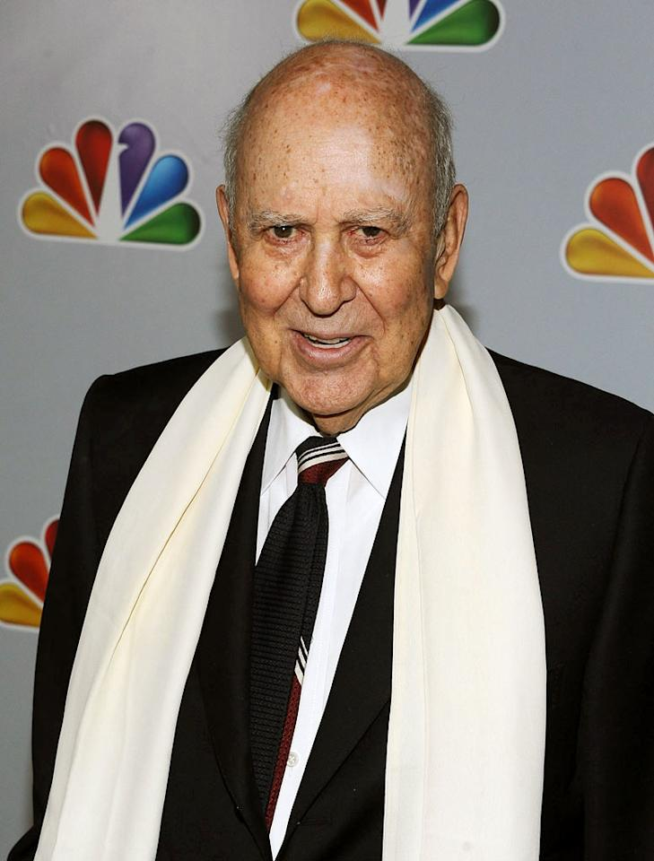 "Carl Reiner arrives at NBC's taping of ""Betty White's 90th Birthday: A Tribute to America's Golden Girl"" at the Millennium Biltmore Hotel on January 8, 2012 in Los Angeles, California."