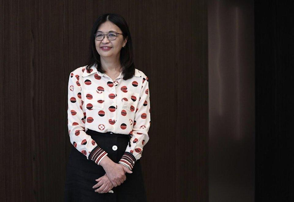 Julia Leung Fung-yee, deputy chief executive of the Securities and Futures Commission (SFC) at the SFC's offices in Quarry Bay on 21 September 2021. Photo: Jonathan Wong