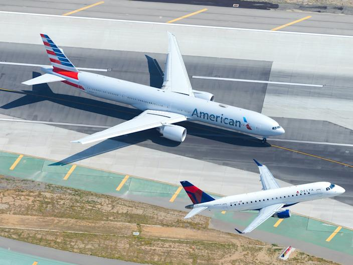 American Airlines and Delta Air Lines