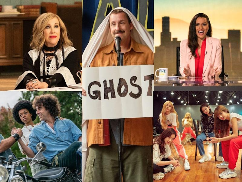 "Netflix's list of October titles include Season 6 of ""Schitt's Creek,"" ""Hubie Halloween,"" ""Sarah Cooper: Everything's Fine,"" ""The Trial of the Chicago 7"" and ""BLACKPINK: Light Up the Sky."""