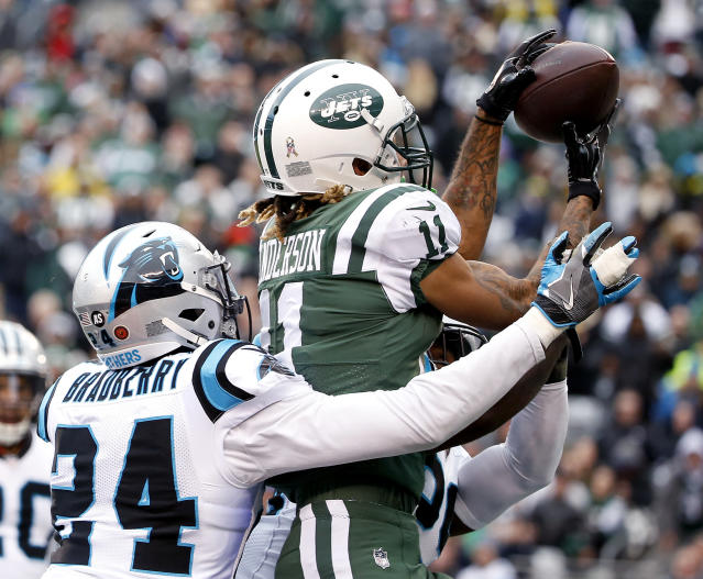 Vote for me: Jets receiver Robby Anderson, who has 70 catches this season, asked fans to send him to the Pro Bowl. (AP)
