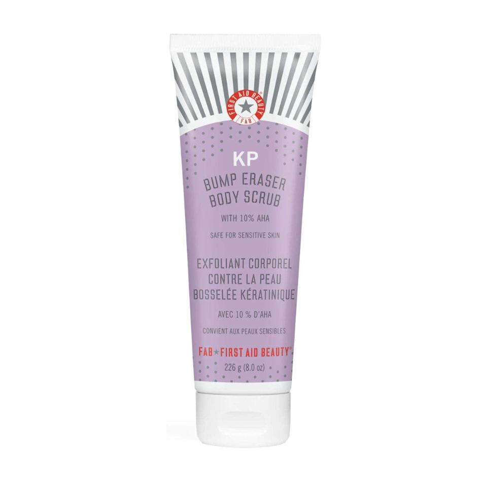 <p><span>First Aid Beauty KP Bump Eraser Body Scrub</span> ($24, originally $28)</p>