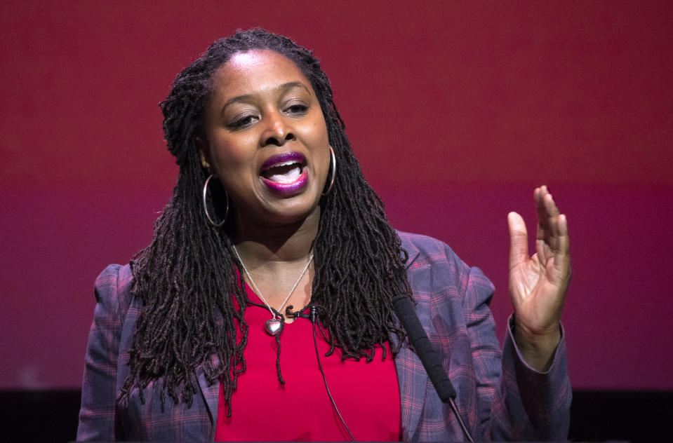 Dawn Butler during the Labour leadership hustings at the SEC centre, Glasgow.