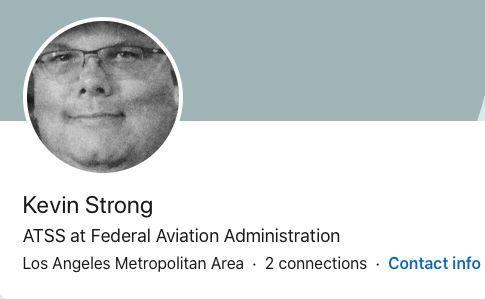 Strong's LinkedIn profile lists him as working at the Federal Aviation Administration. (LinkedIn)