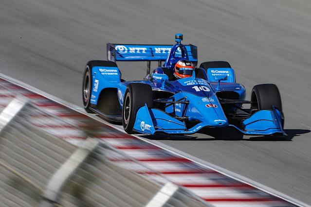 Herta leads Laguna practice as rookies fly but go off