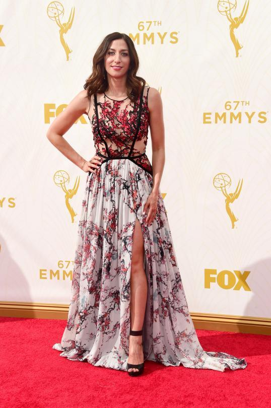 <p>Gabriela Cadena's an up and coming designer so it's only fitting that Chelsea Peretti, an up and coming comedienne, chose a dress from the brand. The pattern seems like it was pulled off of curtains but the sheer at least added a little sex appeal. </p>