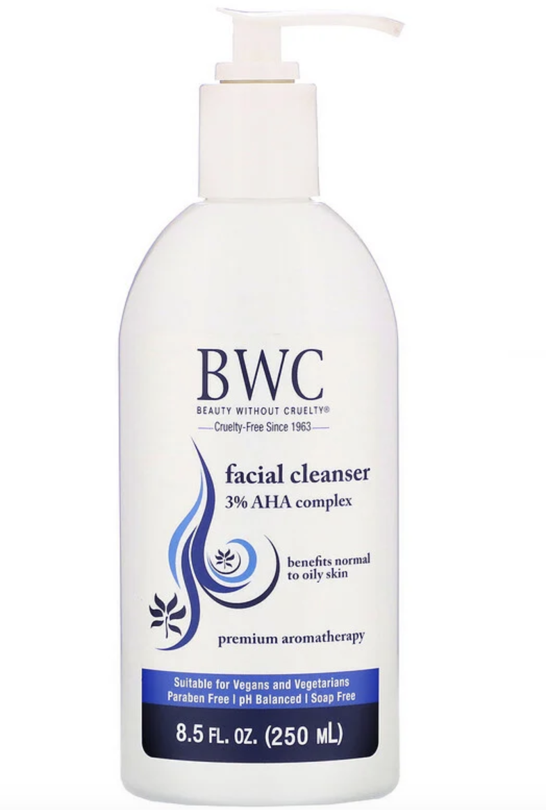 Beauty Without Cruelty, Facial Cleanser, 3% AHA Complex. PHOTO: iHerb