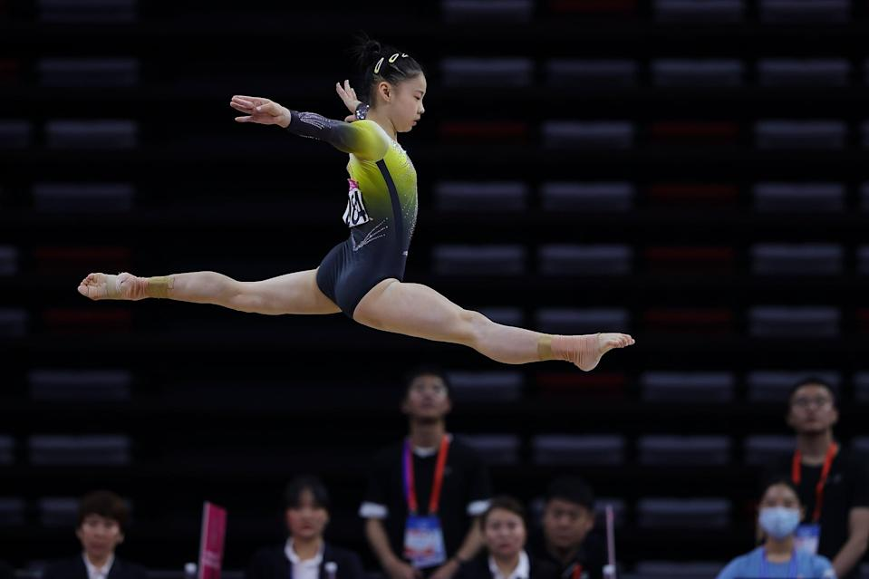 """<p><strong>US Olympic gymnasts who could qualify for the beam final:</strong> I agree with Salim-Beasley when she says she thinks Biles will qualify for the beam final - Biles doesn't even have to do her signature <a href=""""https://www.popsugar.com/fitness/simone-biles-double-double-beam-named-after-her-2019-worlds-46700456"""" class=""""link rapid-noclick-resp"""" rel=""""nofollow noopener"""" target=""""_blank"""" data-ylk=""""slk:double-twisting double backflip dismount"""">double-twisting double backflip dismount</a> for her level of difficulty to be up there. Salim-Beasley also believes Lee has a chance at qualifying for the final due to her elegant presence on the beam, which I agree with because she won beam after the two-night Olympic Trials and has had a consistent performance on that event this year aside from the GK US Classic. However, Salim-Beasley isn't too sure about Lee being a contender for an actual medal. """"The only thing I would say is that she just has a weaker dismount, and for some judges, they want to see difficulty throughout the entire routine from start to finish,"""" she said. I second that.</p> <p><strong>Olympic artistic gymnastics beam final podium contenders:</strong> Chan said that, for medal contention, we should be watching China's Yushan, who had the highest beam score of the year so far (<a href=""""http://twitter.com/chngym/status/1408318622255124480?s=20"""" class=""""link rapid-noclick-resp"""" rel=""""nofollow noopener"""" target=""""_blank"""" data-ylk=""""slk:15.633"""">15.633</a>), and individual competitor Guan Chenchen, the 2020 Chinese national beam champion. Both of these gymnasts are capable of the highest beam difficulty in the world, Chan noted. Sacramone Quinn concurs with Chan's predictions, though she thinks that Biles could come out on top. If we're judging just from a difficulty perspective, Biles may be outscored by these two gymnasts, meaning at the very least, she'd get a bronze medal.</p> <p><em>The Olympic artistic gymnastics beam final is slated for Aug. 3.</em></p>"""