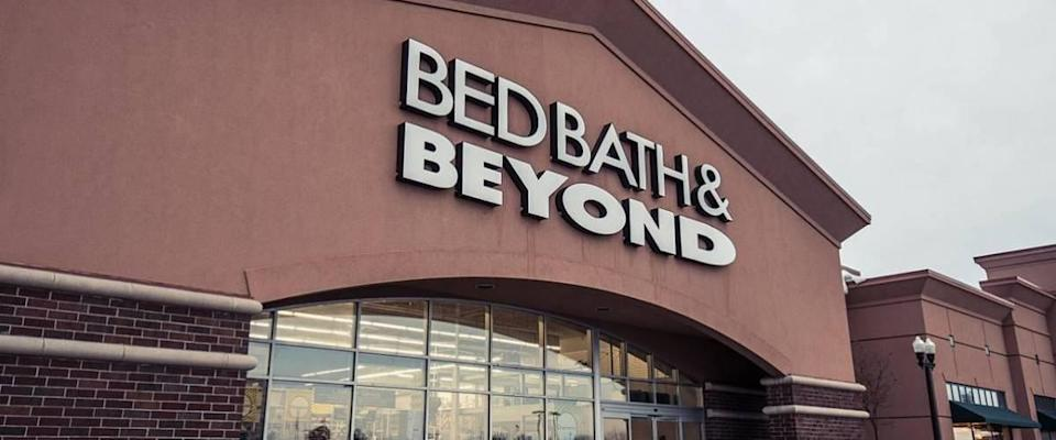 Bed Bath & Beyond store external view with sign