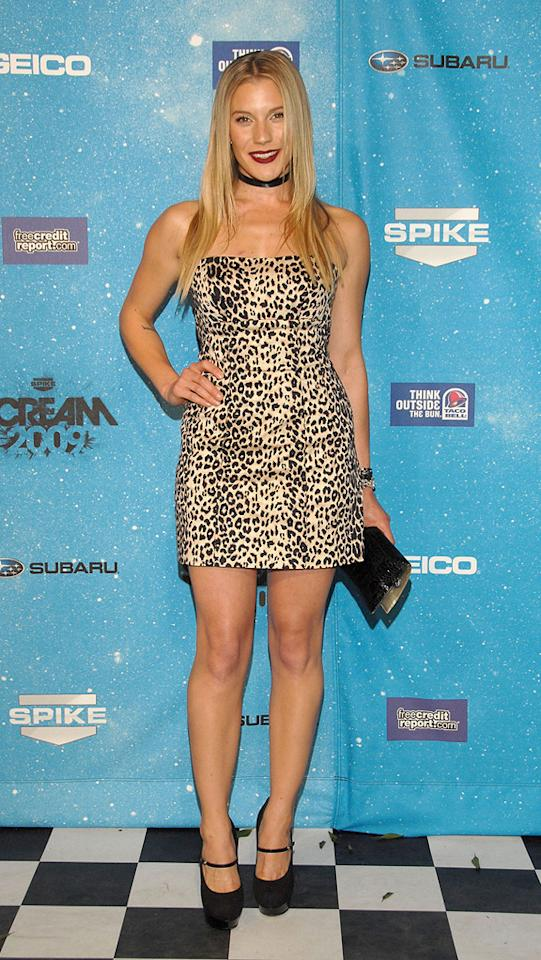 """<a href=""""http://movies.yahoo.com/movie/contributor/1807530991"""">Katee Sackhoff</a> at the 2009 Spike TV Scream Awards in Los Angeles - 10/17/2009"""