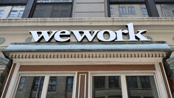 PHOTO: In this July 19, 2019, file photo, a WeWork office is shown in New York. (Timothy A. Clary/AFP/Getty Images, FILE)
