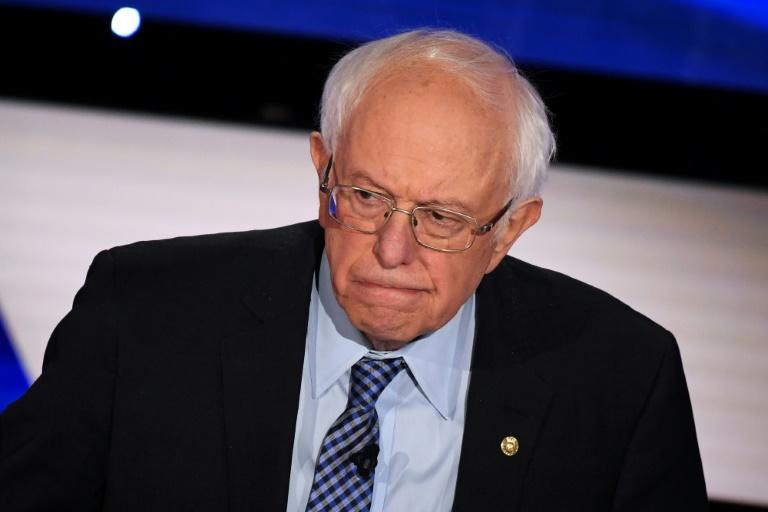 Democratic presidential hopeful Bernie Sanders takes part in the seventh Democratic debate of the 2020 presidential campaign on January 14, 2020 (AFP Photo/Robyn Beck)